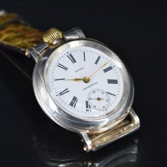 Glashutte C.1900 silver WW1 wristwatch antique military