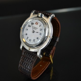 Rare 39.5 mm antique Ulysse Nardin wrist watch solid silver WW1 trench