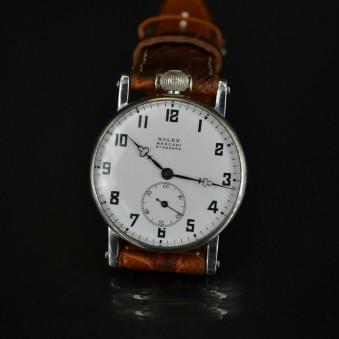 Unique Rolex Marconi wristwatch antique swiss grade serviced movement men's old rare collectible original  timepiece chronometer military trench watch