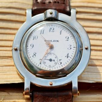 Rolex watch men's vintage rare authentic collectible unique trench military silver